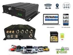 Pantalla Camaras Retoceso Auto Camion Bus Ómnibus Grabador Dvr 3G 4G GPS Wifi Mdvr