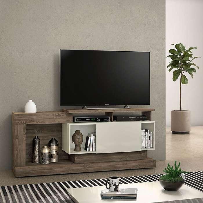 RACK TV con puerta corrediza