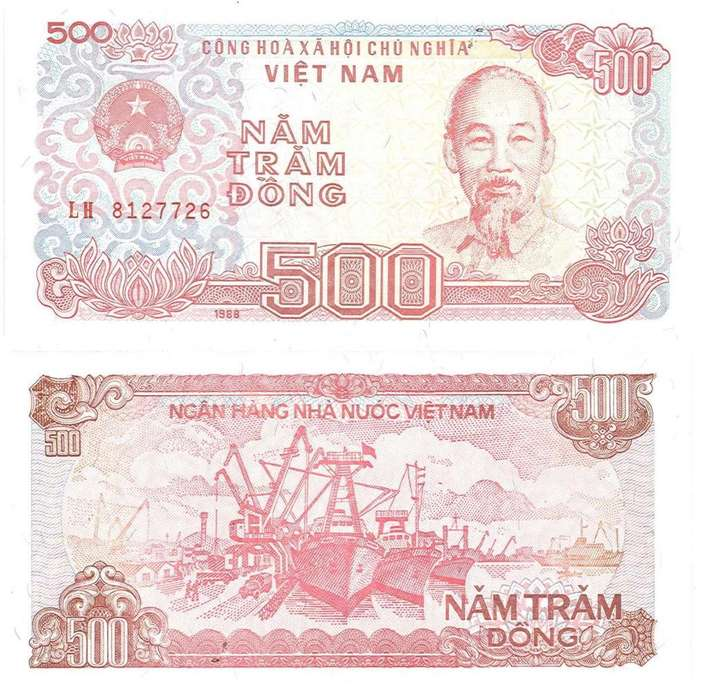 VIETNAM. BILLETE. 500 DONG. 1988. TIPO A. ESTADO 9 DE 10. VALOR 5800