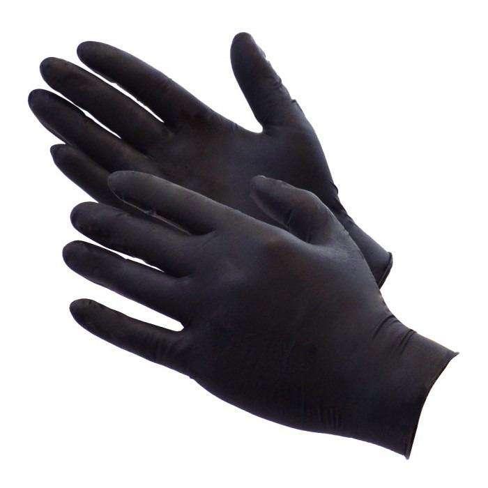 guantes de nitrilo color negro caja x 100