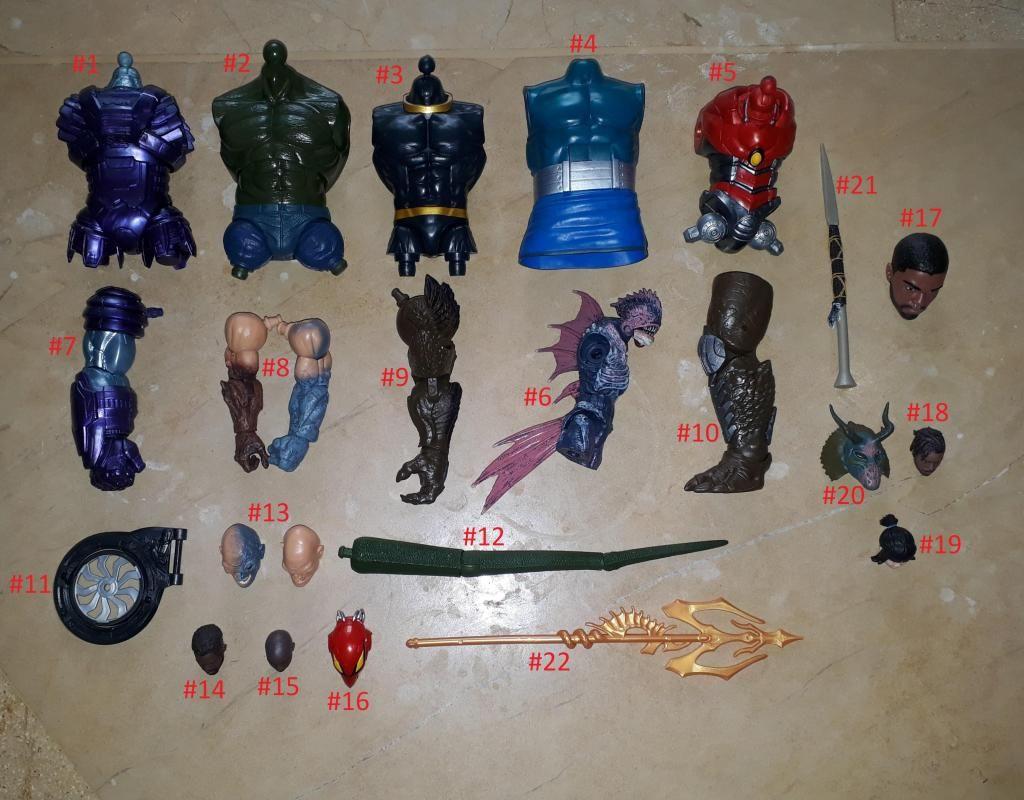 Marvel legends Piezas Baf Gi joe motu heman dc universe multiverse star wars