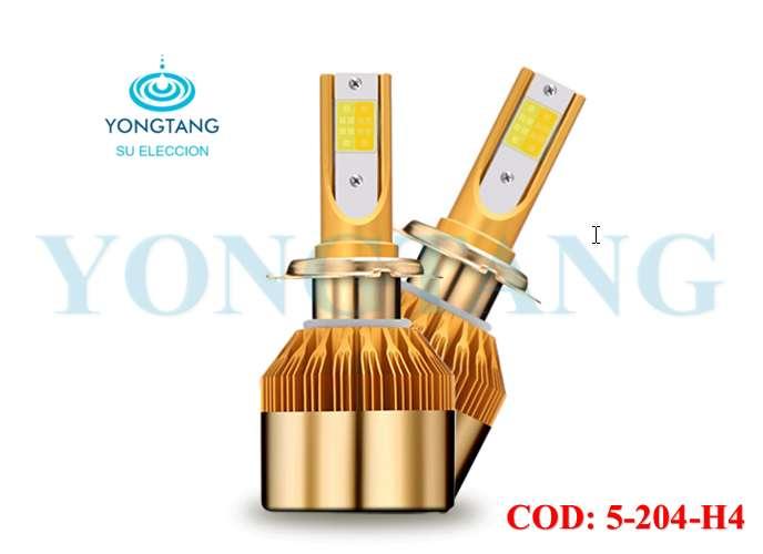 LUZ LED BICOLOR H4 3000K 8000K 40W YONGTANG