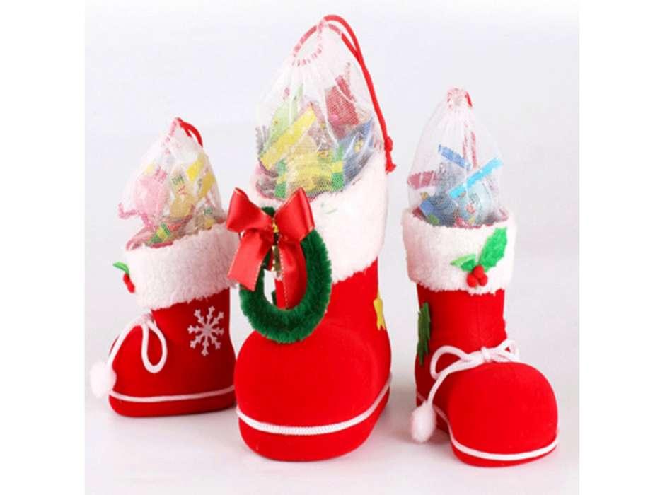 Botas Navidad Pequeña S Regalo Decoración Dulces