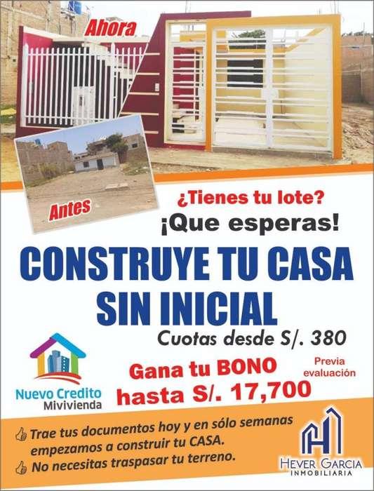 Tienes tu lote? Construye tu casa sin inicial