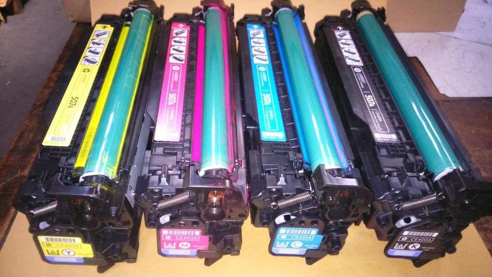 Toner para HP Laser 500 color, Linea 400 descargados