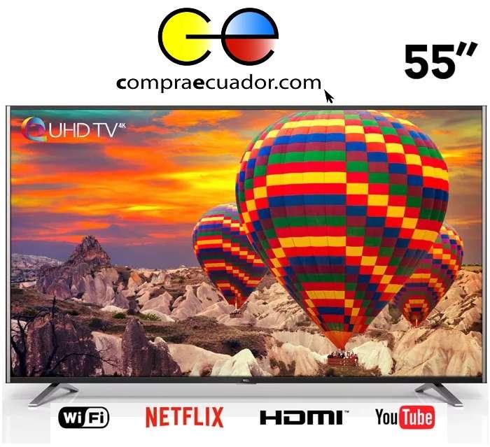 Tcl <strong>televisor</strong> Led 55 Pulgadas Smart Tv 4k Uhd Netflix YouTub