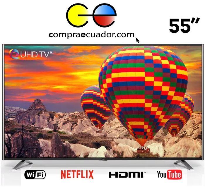 Tcl Televisor Led 55 Pulgadas Smart Tv 4k Uhd Netflix YouTub