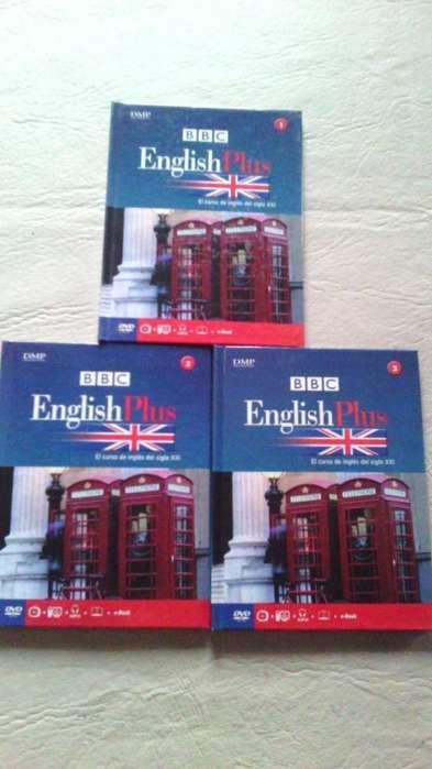 Lote De Tres Libros English Plus Bbc <strong>dvd</strong>