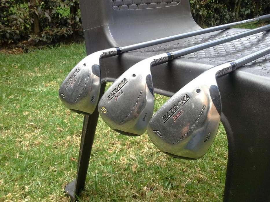 Palos de Golf, Combo 3 Wedges P, A y S, Marca Tour Edge, Bazooka JMAX