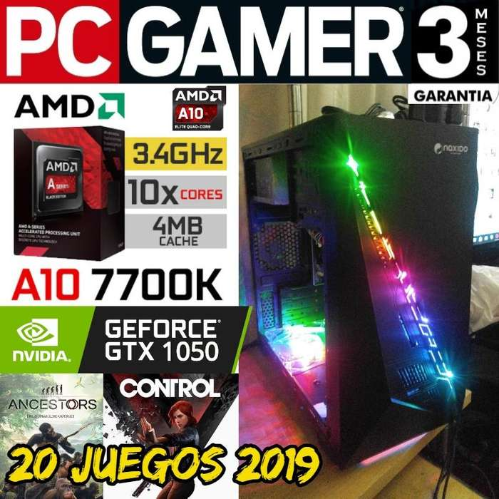 Pc Gamer A10 7700k Gtx 1050 8 Gb 1 Tera Fortnite 1080p Alto