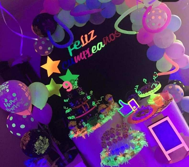 Mef.eventos Decoracion Luz Uv Neon