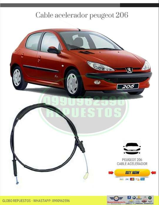<strong>repuesto</strong>s Peugeot Cable Acelerador 206