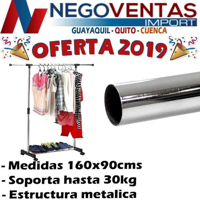 ROPERO DE UN TUBO ESTRUCTURA METALICA PERCHERO REFORZADO PARA HOGAR Y NEGOCIOS