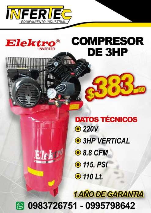 Compresor de 3HP Elektro