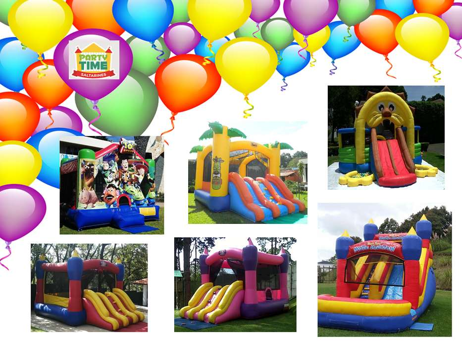 Celebra tus fiestas infantiles con Party Time Inflables y saltarines