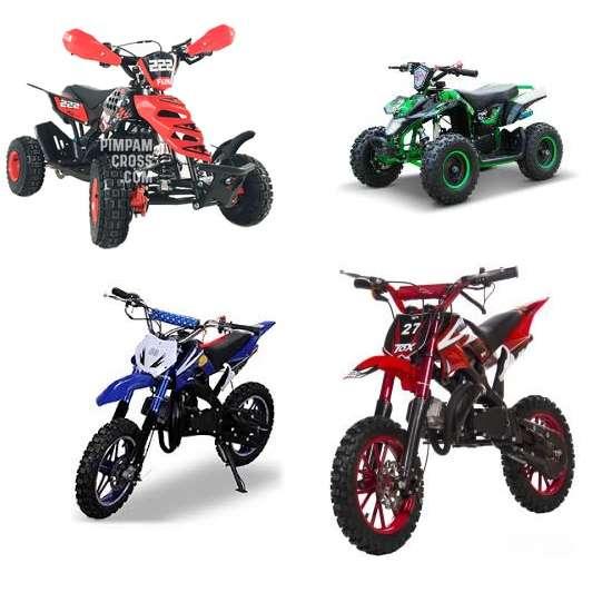 Cuadrones y motos 50cc para ninos