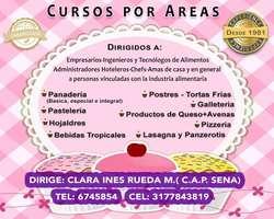 Cursos de Pastelería y Galletería con Clara Inés Rueda