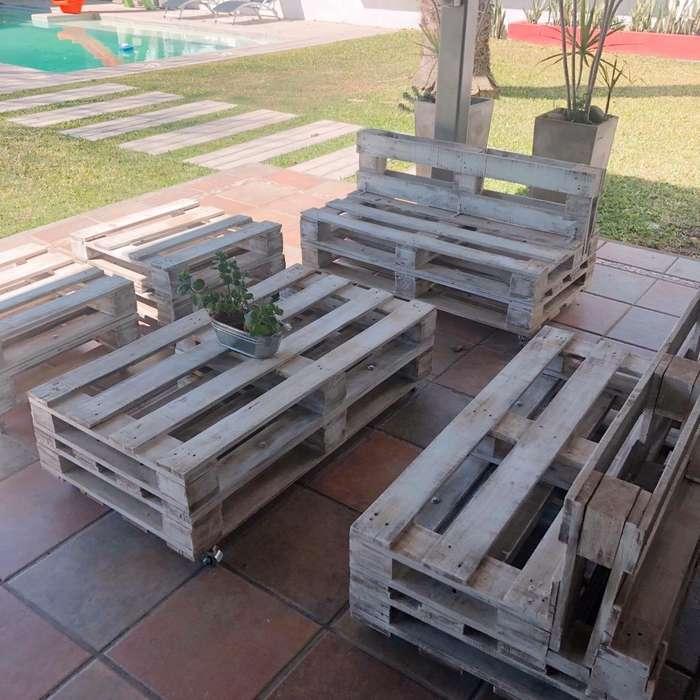 Mueble de Jardin para Exteriores Palets