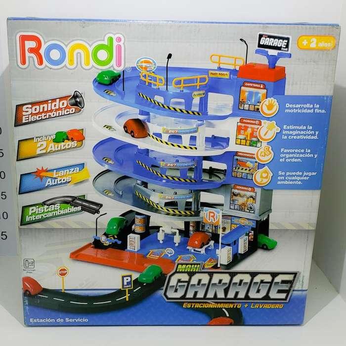 Juguete Estación de Servicio Maxi Garage con Sonido Marca Rondi