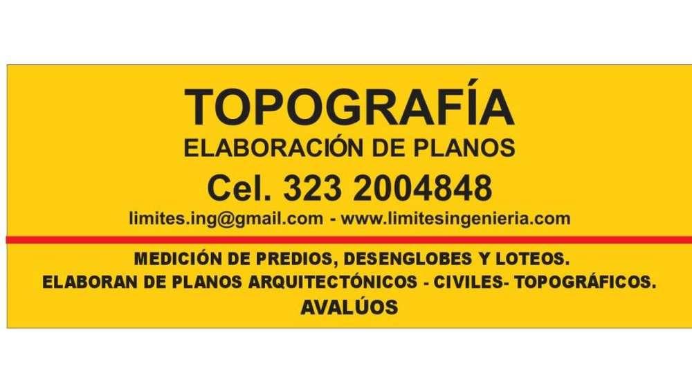 Topografía, Medición de Predios desenglobes, estudios para obras civiles y ambientales.