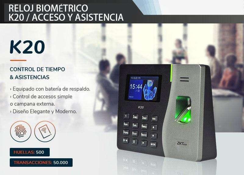 Reloj Biometrico acceso y asistencia k20 /zkteco/ control de acceso y asistencia con respaldo de <strong>bateria</strong> Quito-Guayaquil