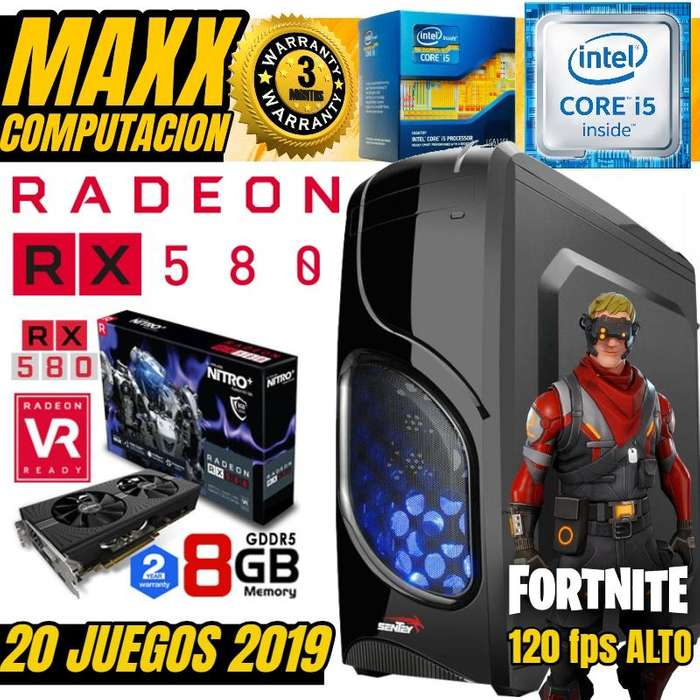 Pc Gamer Core I5 8 Gb 1 Tera Rx 580 8gb Gddr5 20 Juegos 2019