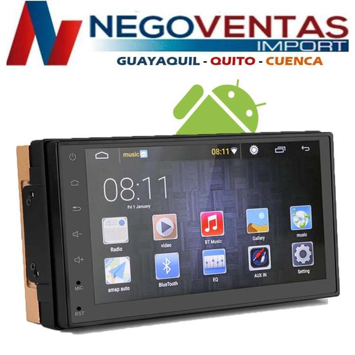 RADIO PARA CARRO DOBLE DIN ANDROID USB SD AUX GPS BT FM PANTALLA FULL TOUCH