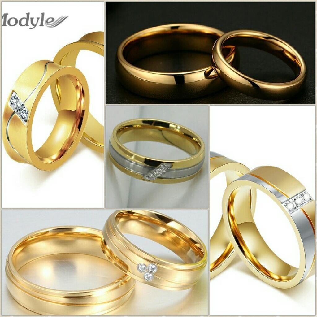 4a057dba0b8b Aros de Matrimonio Oro 18k Y Plata 925 Boda Anillos Compromiso Dia Del  Padre Celular Joyas