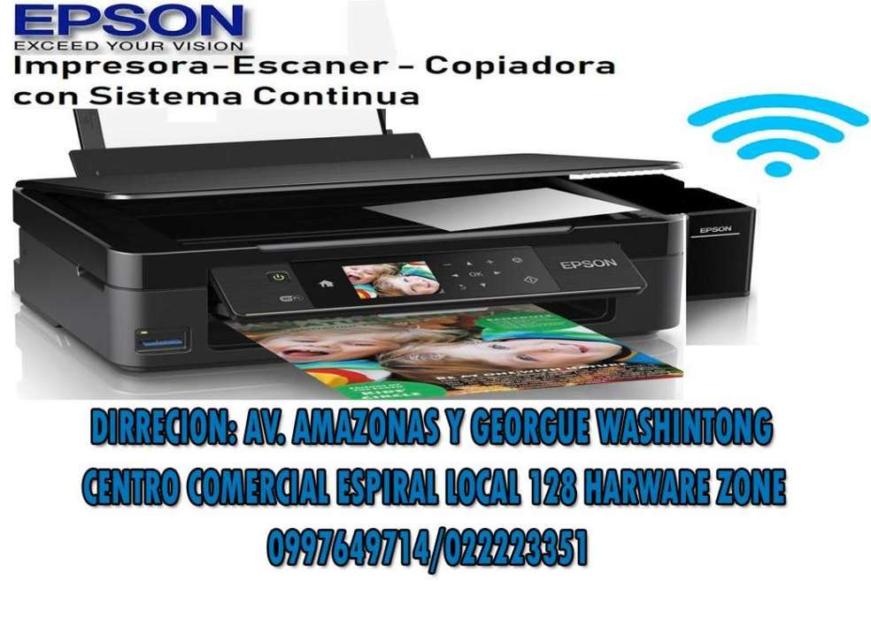 IMPRESORA EPSON XP 440 C/SISTEMA WIFI TACTIL TAMBIEN OTRAS OPCIONES OTRAS OPCIONES