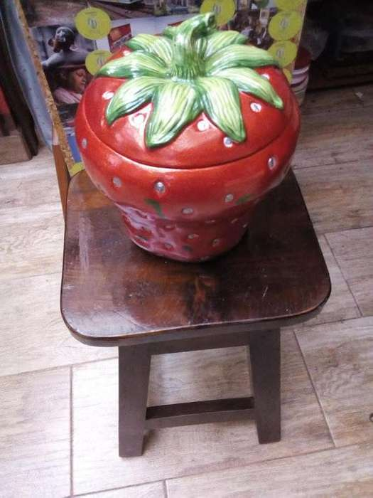 Fruta artesanal grande, forma de fresa, varios usos 120x121