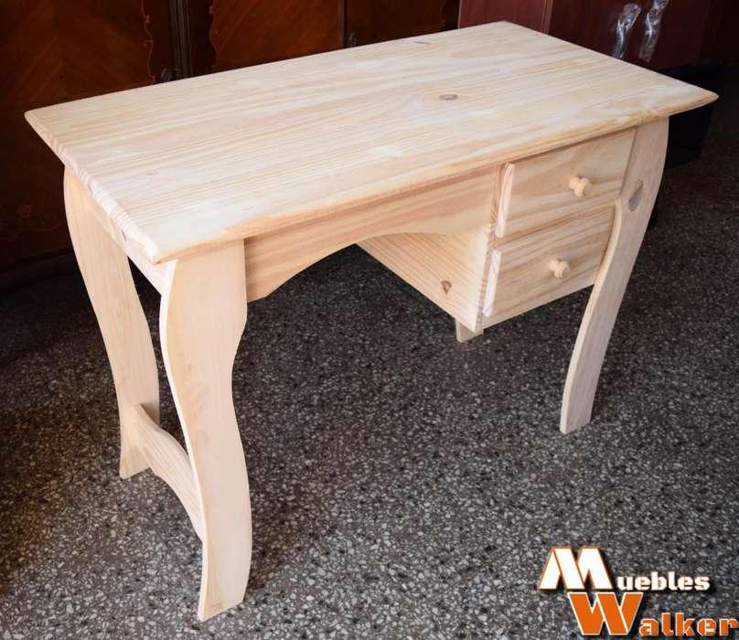 <strong>escritorio</strong>s de pino modelo provenzal 2 cajones