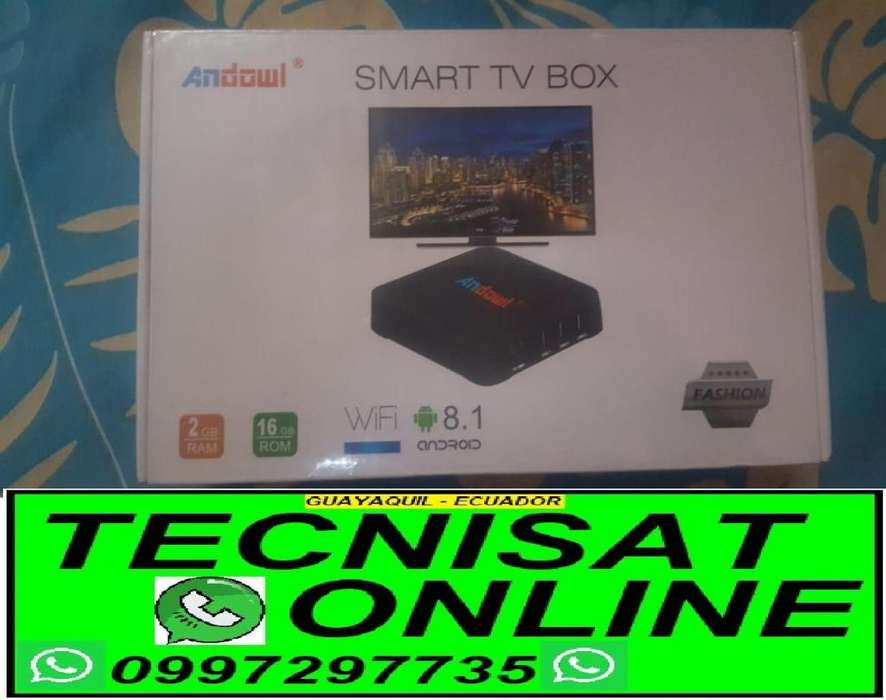 TV BOX ANDOWL 2GB RAM, 16GB ROM ANDROI 8.1 CONVERTIDOR SMARTV TVBOX