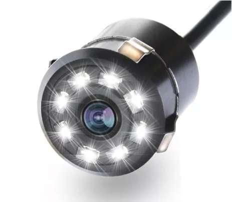 Camara Reversa Carro Vision Nocturna 8 infraleds 8 leds lineas de parqueo y alta definicion resitente al agua