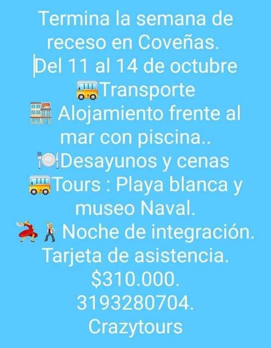 Excursión a Coveñas del 11 al 14 de octubre con tarifa PROMO