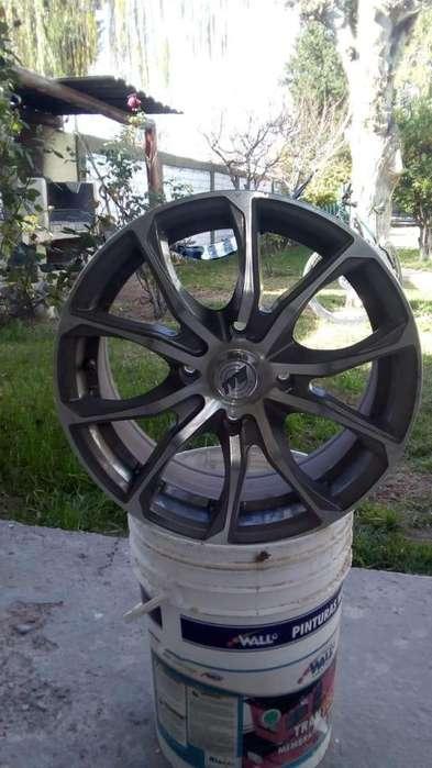 Vendo Kit Llantas deportiva TVW Luino R16 4 Agujeros x 114mm