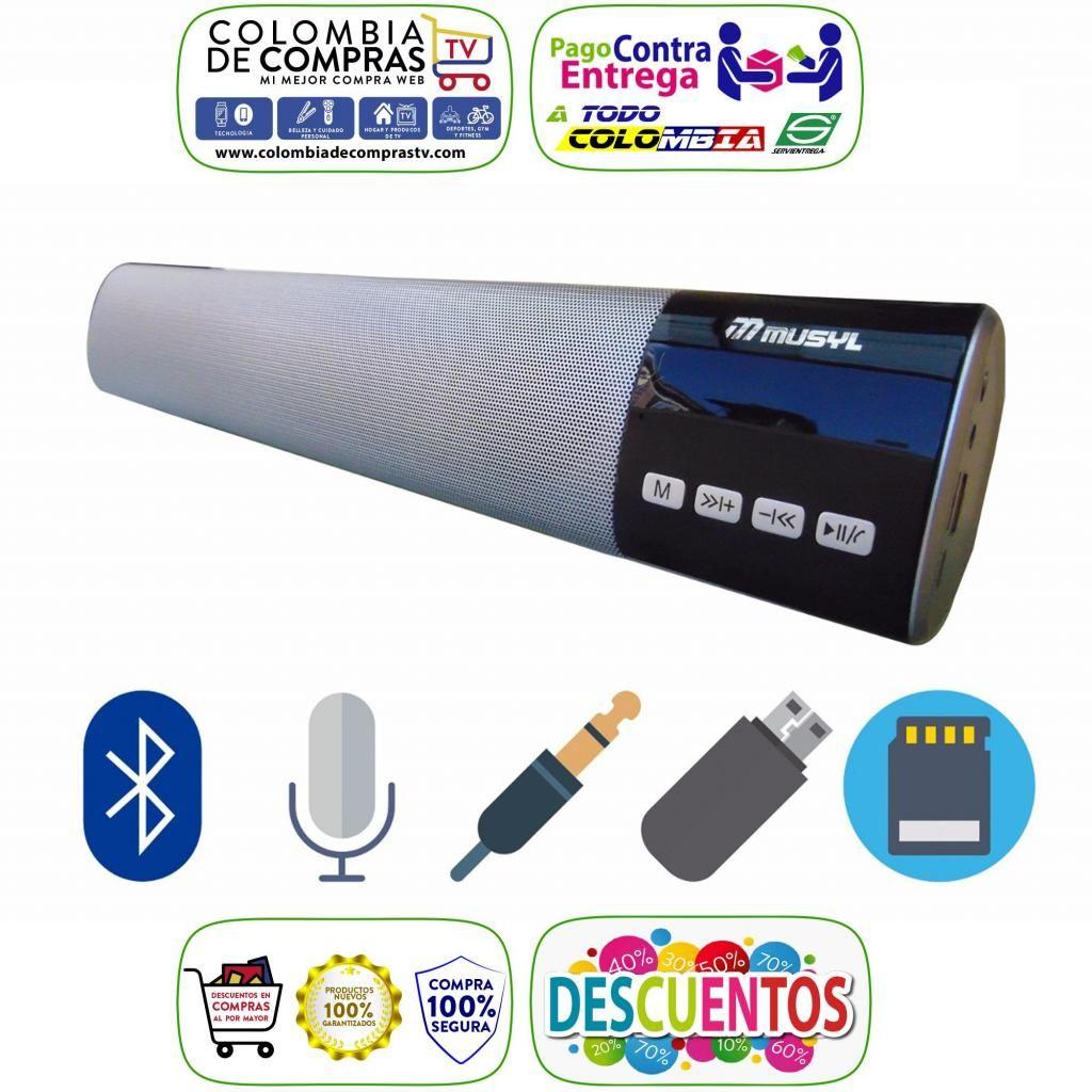 Barra Sonido Bluetooth 40cm Pantalla Led 10w Usb, Fm, Sd, Nuevas, Garantizadas
