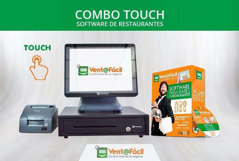 Caja Registradora Touch, <strong>software</strong> Sistema Facturación Restaurante - Cafeteria Punto De Venta