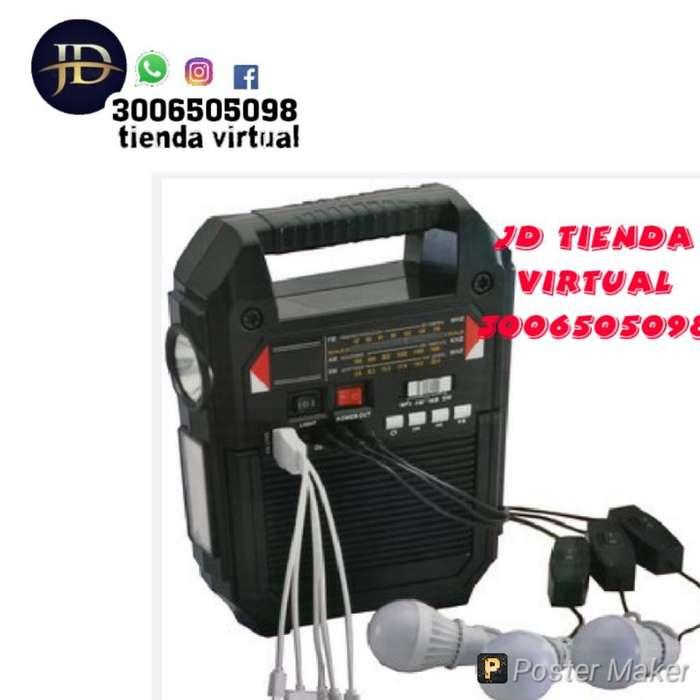 Kit Solar Radio 3 Bombillas