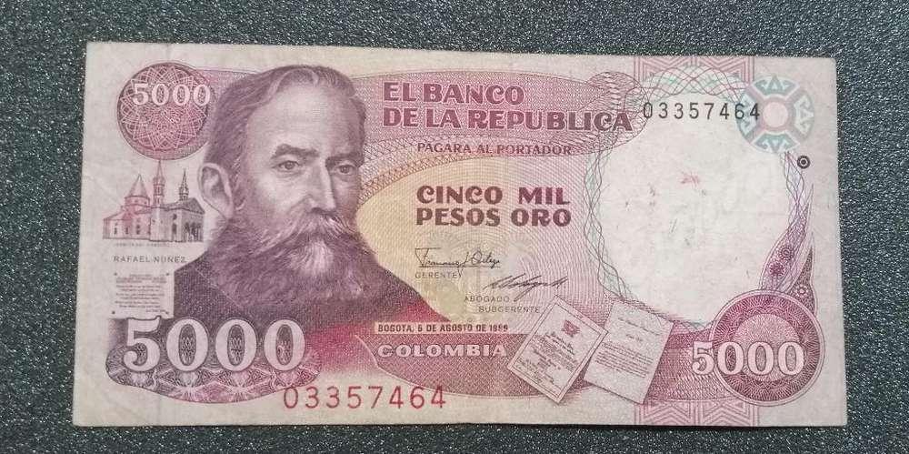 Antiguo Billete de 5000 Pesos