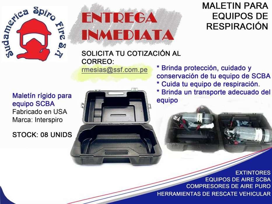 Maletín rígido para Equipos de respiración autónomo( EPRA) - Marca Interspiro. Hard case
