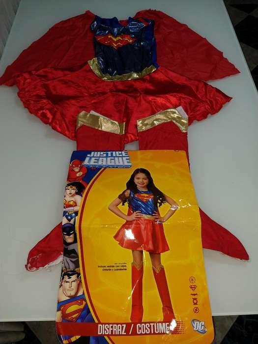 Disfraz Super Chica Talla 8 Liga de Just