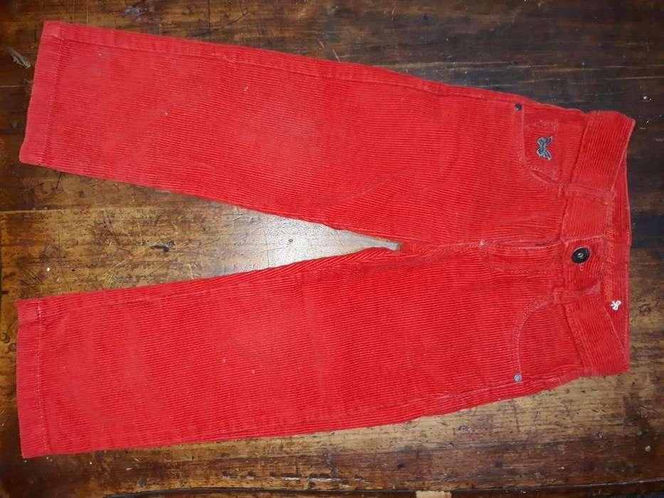 Pantalón Corderoy Rojo Talle 03