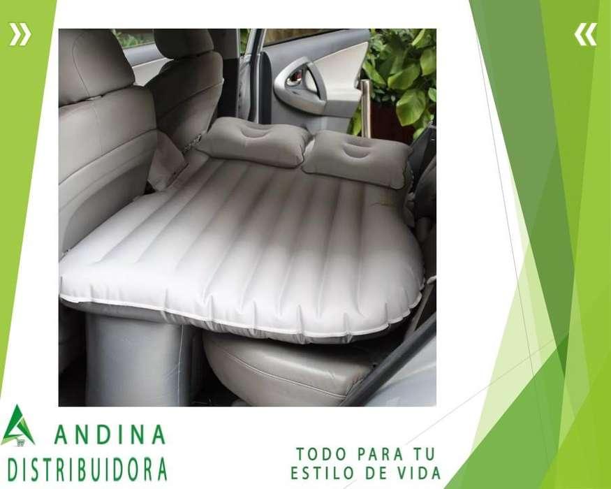 Colchón Inflable Para Auto Viaje Incluye Inflador Eléctrico