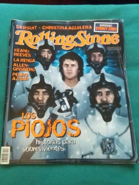 Antigua Revista Rolling Stone nro 30 Los Piojos septiembre 2000