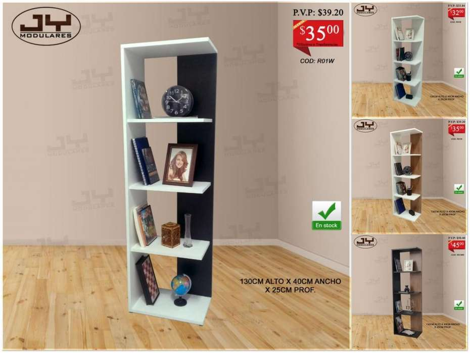 Librero Minimalista moderno, varios colores, desde32 repisa JY Modulares estante organizador