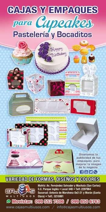 Cajas para Cupcakes , Chocolates, Tortas