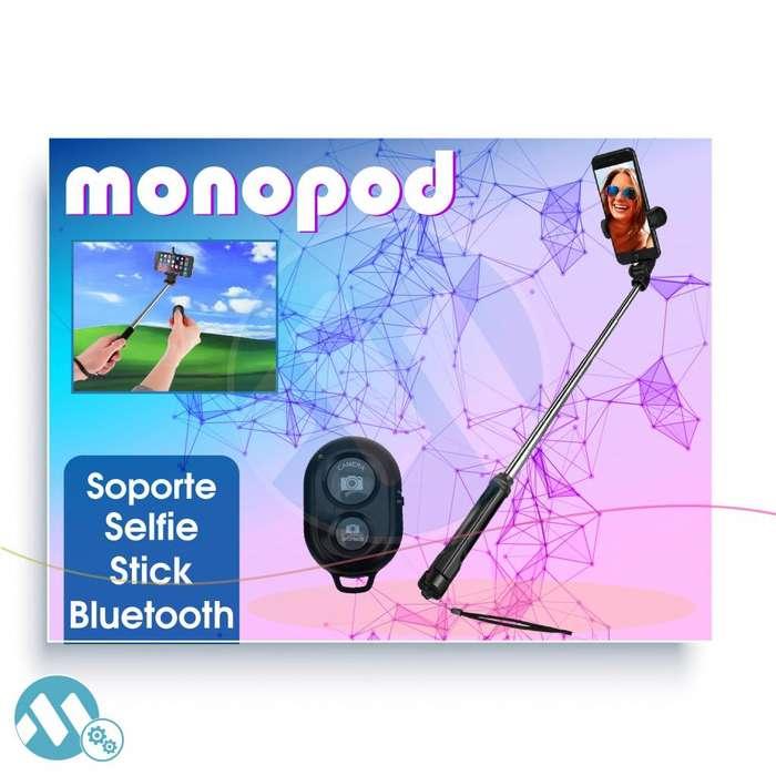 SOPORTE MONOPOD SELFIE BLUETOOTH CONTROL REMOTO