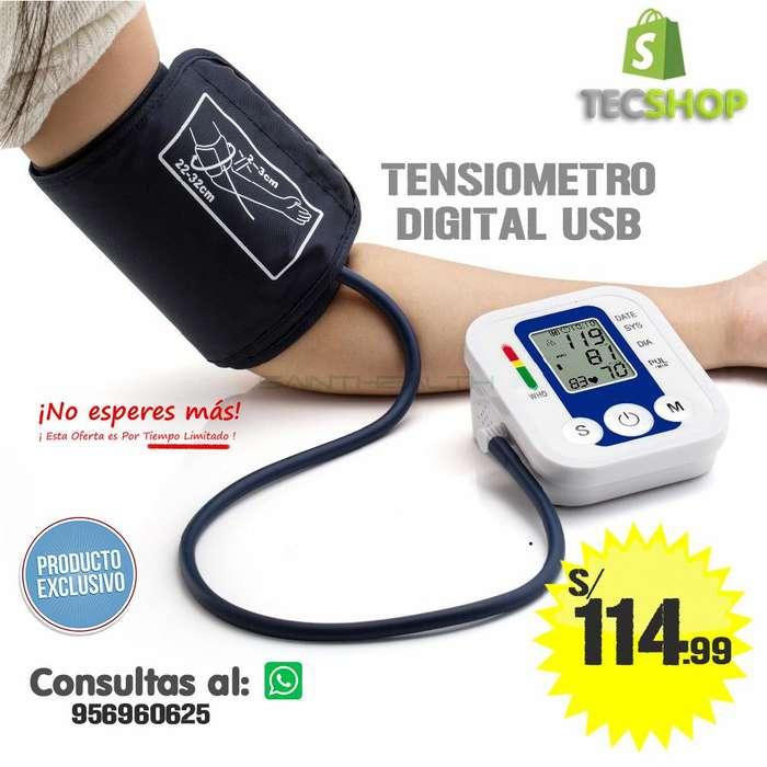 TENSIOMETRO DIGITAL USB MEDIDOR DE FRECUENCIA CARDIACA