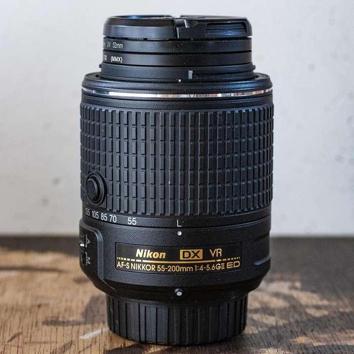 Lente Tele Nikon 55 200 mm VRII NIKKOR