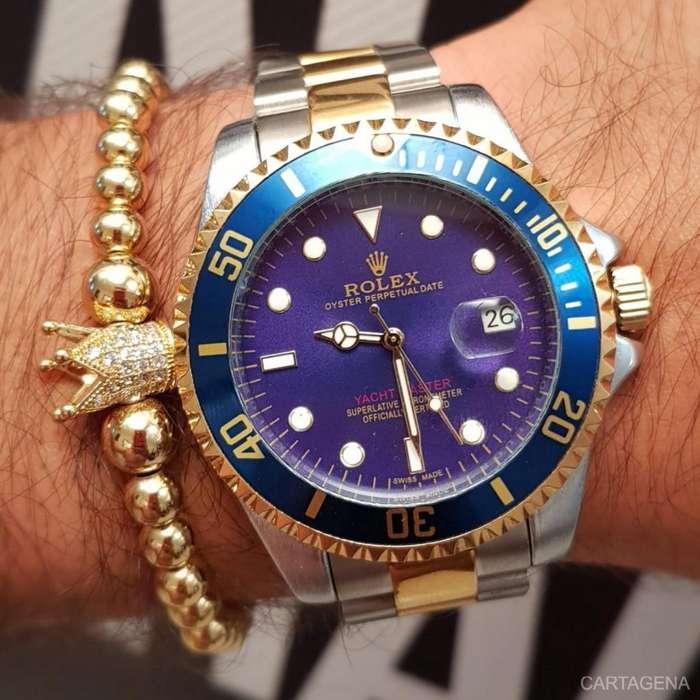 Reloj Rolex bicolor con azul para hombre en venta